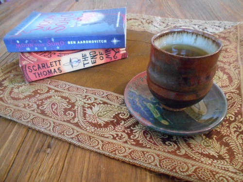 A cup of tea and books