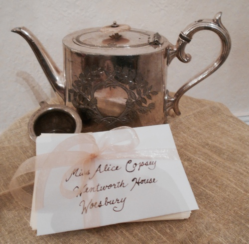 Letters and Teapot