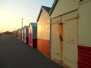 Hove Huts at Sunset