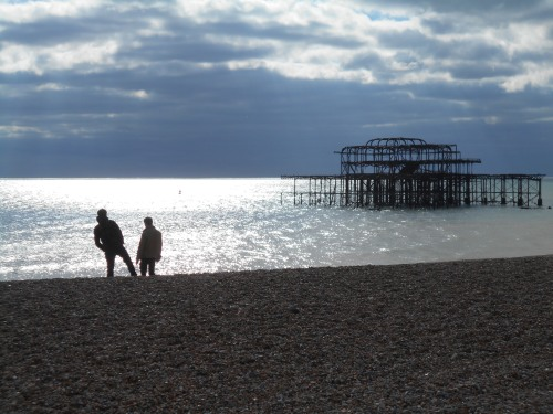 West Pier, partial cloud