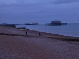 Sunday - just before noon - West Pier looks somber today