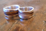 Local wood and silver