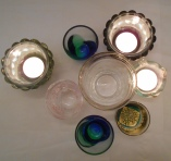 Sake glasses and candles