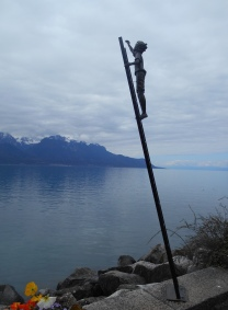 A new addition to Montreux's lakeside sculptures