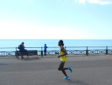Asnakech Mengistu followed closely behind her with a finish time of 02:35:37.
